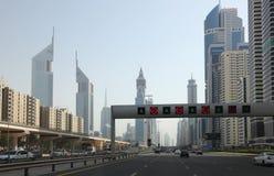 Sheikh Zayed Road in Dubai Stock Photo