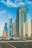 Sheikh Zayed Road Dubai Fotografía de archivo