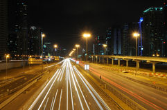 Sheikh Zayed Road in Dubai Royalty Free Stock Photo