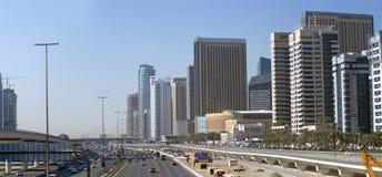 Sheikh Zayed road in Dubai Stock Photos