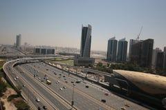 Sheikh Zayed Road in Dubai City Stock Image