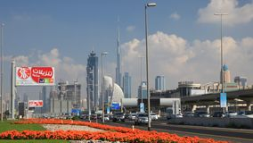 Sheikh Zayed Road in Dubai stock video footage