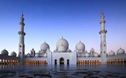 Sheikh Zayed Tusen dollar Moské Royaltyfri Fotografi