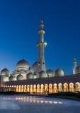 Sheikh Zayed Tusen dollar Moské i Abu Dhabi Arkivfoton