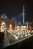 Sheikh Zayed Tusen dollar Moské i Abu Dhabi Royaltyfria Foton