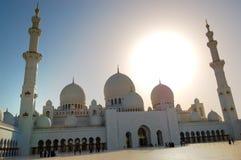 Sheikh Zayed Tusen dollar Moské under solnedgång Fotografering för Bildbyråer