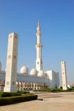 Sheikh Zayed Tusen dollar Moské under solnedgång Royaltyfri Bild