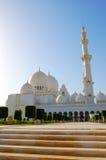 Sheikh Zayed Tusen dollar Moské under solnedgång Royaltyfria Foton