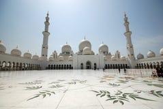 Sheikh Zayed Uroczysty meczet Obrazy Royalty Free