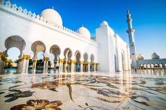 Sheikh Zayed Uroczysty meczet Zdjęcie Stock