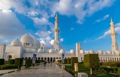 Sheikh Zayed Uroczysty meczet, Abu Dha Obraz Stock