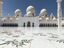 Sheikh Zayed Uroczysty meczet, Abu Dhabi, Zjednoczone Emiraty Arabskie obraz stock