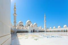 Sheikh Zayed Uroczysty meczet na Październiku 2, 2014 w Abu Dhabi Obraz Stock