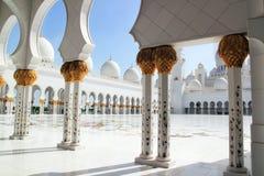 Sheikh Zayed Uroczysty Meczetowy Abu Dhabi Zdjęcie Royalty Free