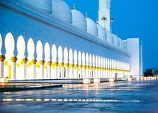 Sheikh Zayed White Mosque Imagem de Stock Royalty Free