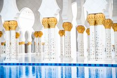Sheikh Zayed White Mosque Stock Image