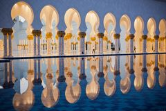 Sheikh Zayed White Mosque in Abu Dhabi Lizenzfreie Stockbilder
