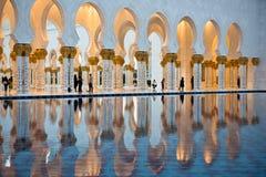 Sheikh Zayed White Mosque in Abu Dhabi Lizenzfreies Stockbild