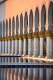 Sheikh Zayed White Mosque in Abu Dhabi Lizenzfreies Stockfoto
