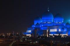 Sheikh Zayed White Mosque in Abu Dhabi nachts Lizenzfreies Stockbild