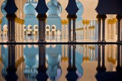 Sheikh Zayed White Mosque in Abu Dhabi nachts Lizenzfreie Stockfotografie