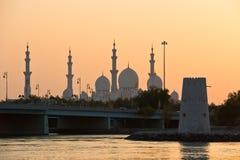 Sheikh Zayed White Mosque in Abu Dhabi, UAE Stockbilder