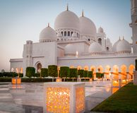 Sheikh Zayed White Mosque Stock Photography