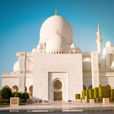 Sheikh Zayed White Mosque Royalty Free Stock Photos