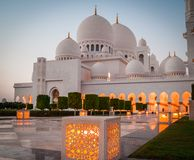 Sheikh Zayed White Mosque Stock Images
