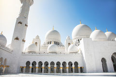 Sheikh Zayid Mosque. In Abu Dhabi UAE Stock Images