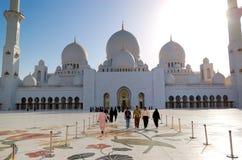 Sheikhen Zayed Tusen dollar Moské Arkivfoto