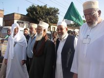 Sheikhs Islamic clerics in Africa. A photo of Islamic clerics known as sheikhs in a religious demonstration in Nairobi Kenya Stock Photography
