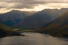 Sheil Bridge and the mountains beyond, Scotland Stock Image