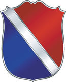Sheild. Red Blue Sheild Royalty Free Stock Images