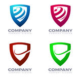 Sheild logo and icons vector. Collection of corporate logo elements and icons Stock Image