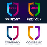 Sheild logo and icons vector. Collection of corporate logo elements and icons Royalty Free Stock Photography