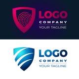 Sheild logo and icons vector Stock Photography