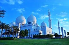 Shejken zayed moskén, Abu Dhabi, UAE, mellersta öst Fotografering för Bildbyråer