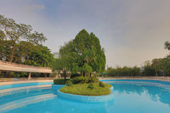 Shek Kip Mei Park is one of the largest parks Royalty Free Stock Images