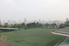 Shek Kip Mei Park Soccer Field The Shek Kip Mei Park Fotografía de archivo libre de regalías