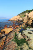 Shek O coast. In Hong Kong, China royalty free stock photo