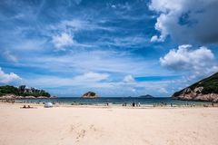 People enjoying sun shine at beach at sunny afternoon royalty free stock images