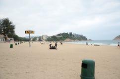 Shek O plaża Hong Kong w zimie Zdjęcia Royalty Free