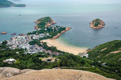 Shek O. Village bay in hong kong royalty free stock images