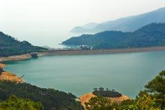 Shek Pik-Reservoir Lizenzfreie Stockfotos