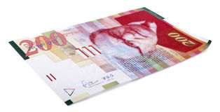 200 shekel israeliani Bill Immagini Stock