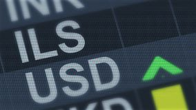 Shekel israeliano confrontato al dollaro americano Fluttuazioni di tasso di cambio royalty illustrazione gratis