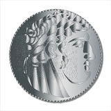 Shekel. A single shekel silver coin as used in the Times of the Roman Empire and supposedly taken by Judas to betray Jesus Christ Stock Photos