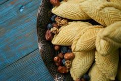 Shekerbura tradicional de los pasteles de Azerbaijan para Novruz fotografía de archivo libre de regalías