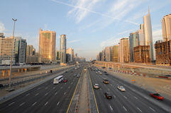 Shekh Zayed Road in Dubai Stock Photos